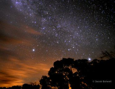 Starry skies near Mansfield | high Country, Victoria. Credit: Jacob Bolwell