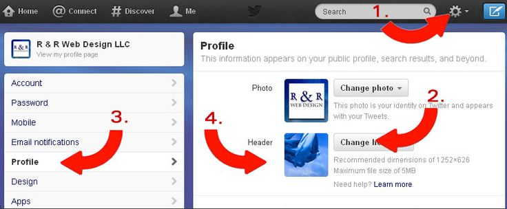How to add a Twitter header image
