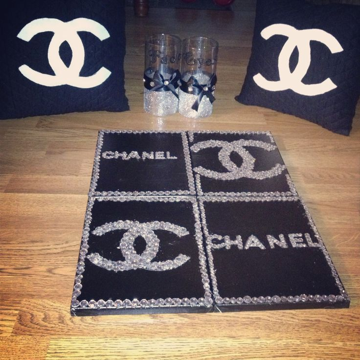 Really Proud Of How My DIY Chanel Room Decor Turned Out <3