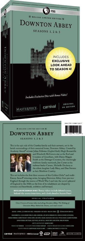 Masterpiece: Downton Abbey Seasons 1, 2 & 3 Deluxe Limited Edition (Amazon Exclusive Season 4 Bonus Features)  #DVD