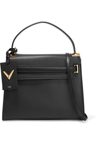 Black textured-leather  Snap-fastening front flap Comes with dust bag  Weighs approximately 3.1lbs/ 1.4kg Made in Italy