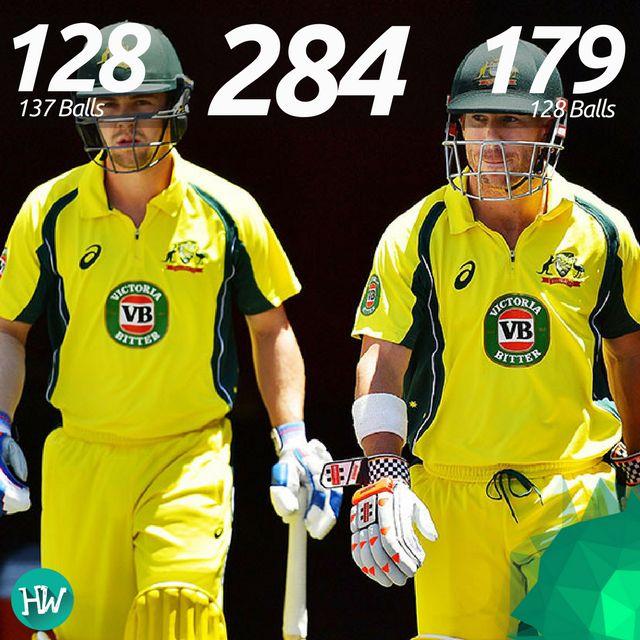 David Warner and Travis Head put on the 2nd highest partnership in ODIs, missing the top rank by just 2 runs. #AUSvPAK #AUS #PAK #cricket #warner