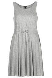 Jersey Drawcord Waist Dress