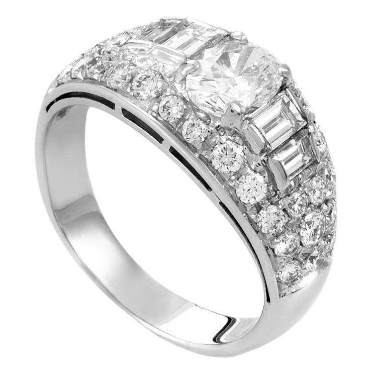 bulgari white gold diamond engagement ring blending the 18k white gold shimmer with spectacular glitter