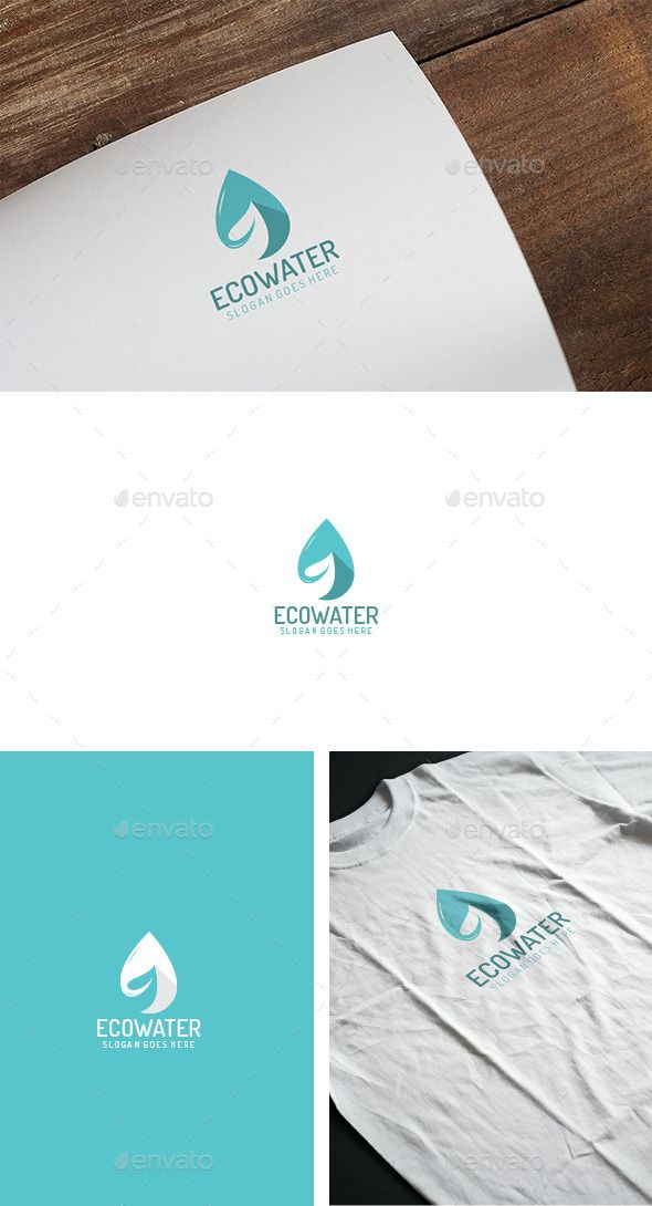 Eco Water Drop Logo