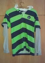 Pánské triko s dlouhým rukávem - pruhované