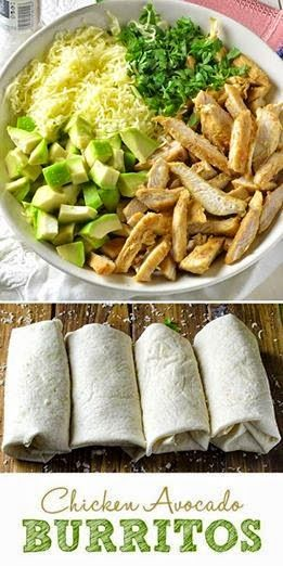 Chicken Avocado Burritos
