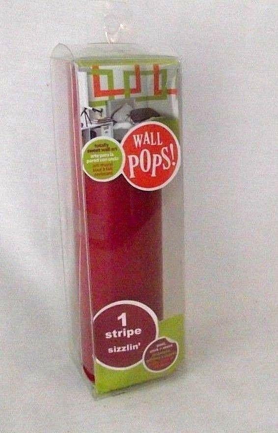 Wall Pops Wall Stripe Decor Art Burgundy Sizzlin Peel Stick 6 5 X