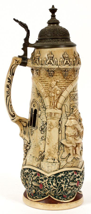 GERMAN 2 LITER MAGNUM POTTERY STEIN