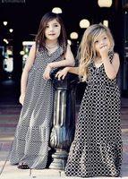Wholesaleblack chevron maxi petti robe enfants fille princesse long maxi robe coton adorable robe en forme de chevron été kid - Code Produit : 1679774787 - m.french.alibaba.com