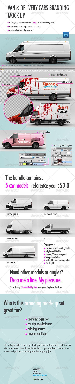 Van & Delivery Cars Branding Mock-Up  Buy: http://graphicriver.net/item/van-delivery-cars-branding-mockup/2582850?ref=centmillionaire