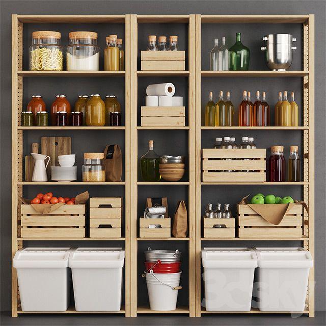 Ivar Kraft Crate Pantry Küchen Speisekammerdesign Küche