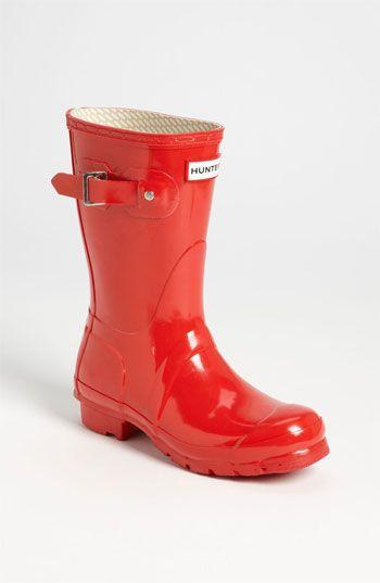 Hunter 'Original Short' Gloss Rain Boot (Women) available at #Nordstrom  I need them now!