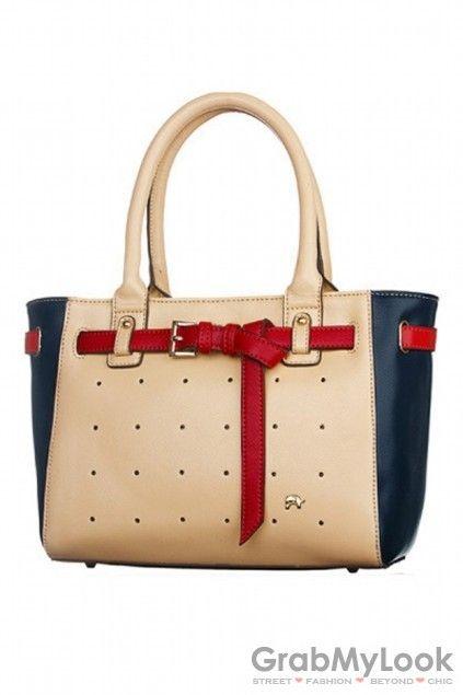 GrabMyLook Color Faux Leather Bucket Shoulder Neverfull Shopping Tote Handbag Bag