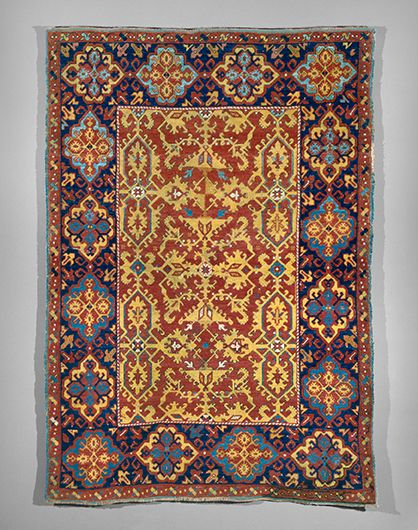 """""""Ornamented-style Lotto"""" Rug, Turkey, 17th century, Wool, 69 x 49 in. (176 x…"""