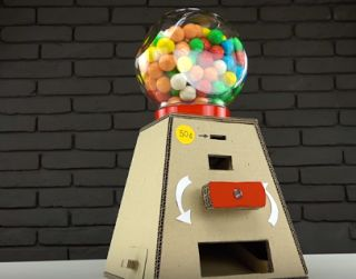 Tina's handicraft : DIY Gumball Candy Machine Money Operated from Card...