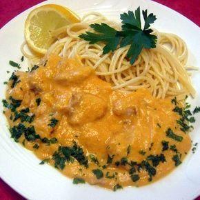 Csirke vadas mártásban spagettivel Recept képekkel - Mindmegette.hu - Receptek
