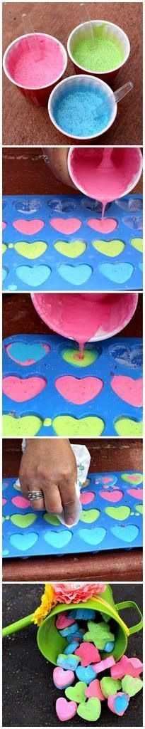 Tiza de colores casera