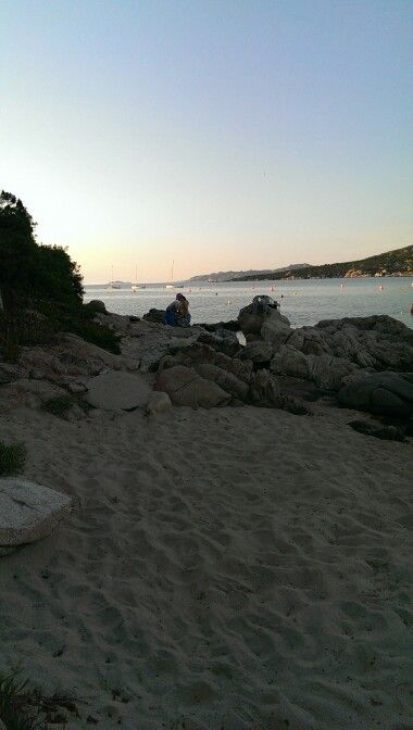 Spiaggia di Porto Pollo al tramonto