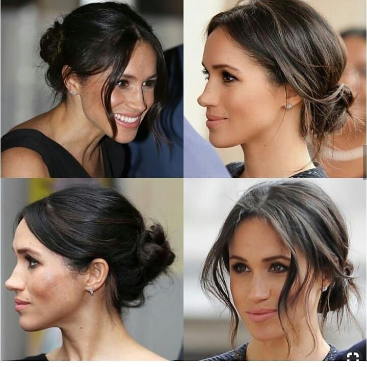 Bun Hairstyles For Long Hair Meghan Markle Hair Bun Hairstyles