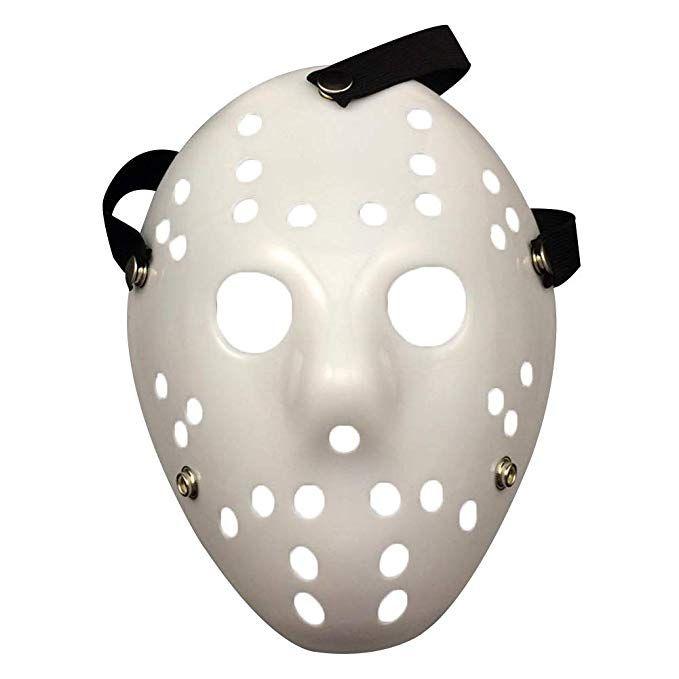 Amazon Com Geklok Diy White Cosplay Mask Full Face Opera Masquerade Plain Mask Prop Horror Hockey Halloween C Scary Halloween Masks Mask Party Halloween Masks