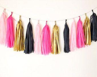 Tonos de oro rosa negro mezclan garland boda cumpleaños babyshower bautizo fiesta decoración telón de fondo