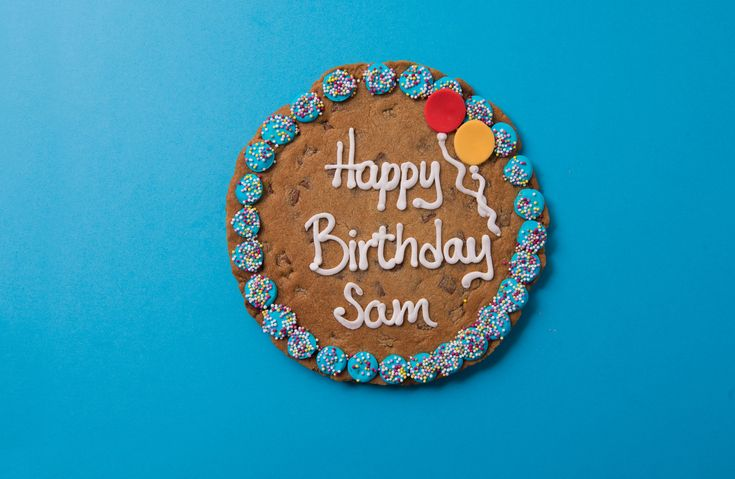 Giant Chocolate Chip Happy Birthday Cookie Card