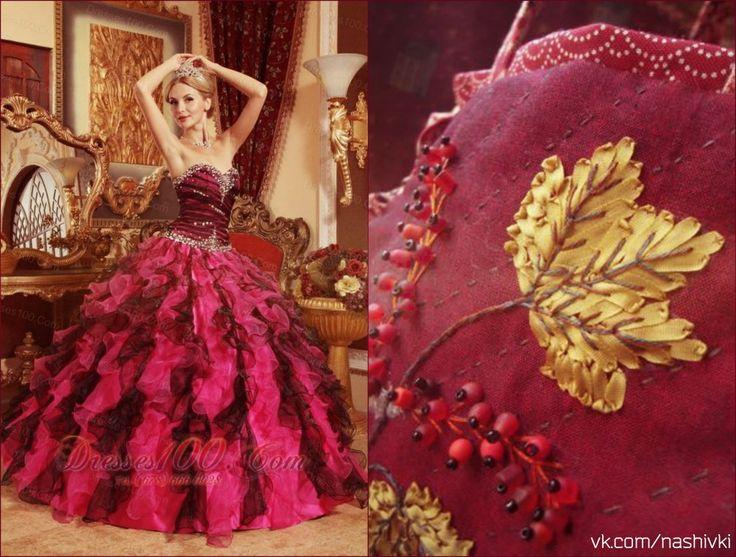 """""""Сентябрь — это кофе с корицей, кленовые листья, разноцветные, как часть детского рисунка, тёплые, нежные плюшки с ванилью и прозрачный свежий воздух"""" #вышивка #вышивание #рукоделие #цитаты #подборки #красота #мода #женщина #розовый #платье #клен #осень #музыка #сентябрь #золото  #бусины"""