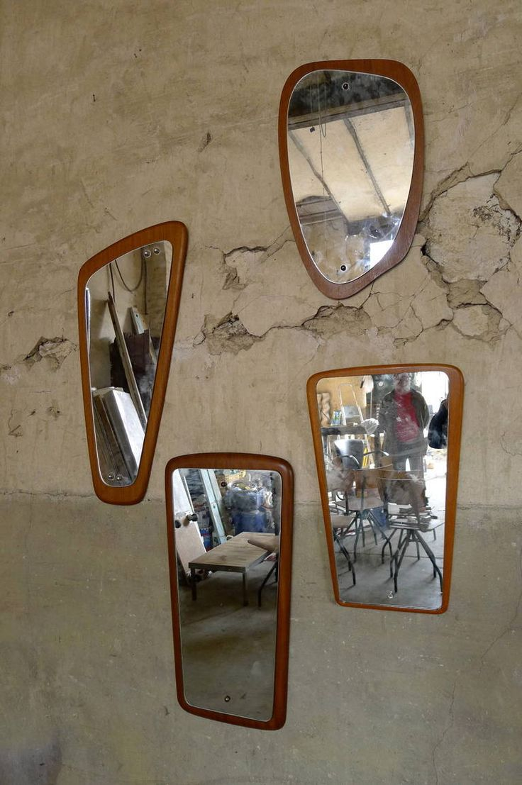 4 Scandinavian mirrors | From a unique collection of antique and modern wall mirrors at https://www.1stdibs.com/furniture/mirrors/wall-mirrors/