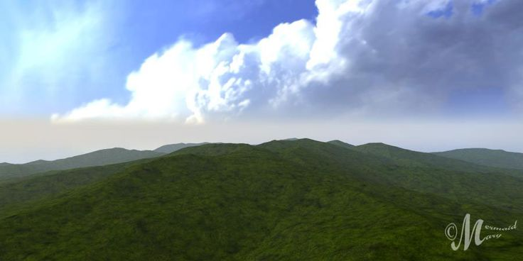 The Crystalline terrain manipulated in the TE Filters - http://www.daz3d.com/bryce-terrain-editor-advanced-filter lit by one of Horo's Sunless Hdri skies.