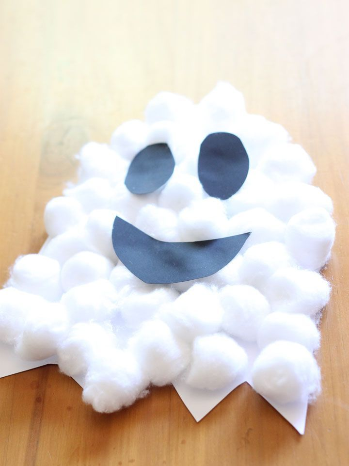 Easy Craft for Halloween - Cotton Wool Ghost