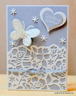 JanB Handmade Cards Atelier: Floral Glimmer Wedding Card