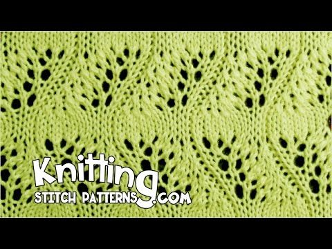 How to knit the Japanese Feather Lace Stitch. Follow along and see how easy it is to knit. ++ For detailed written instructions, see:: http://www.knittingsti...