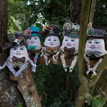 Humpty Dumpty say on a branch. From there He could see all the fairies dance...