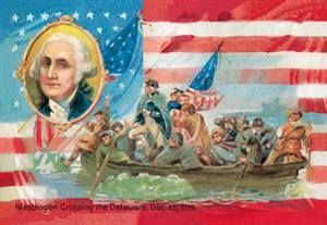 WALLS 360 wall graphics: Washington Crossing the Delaware with Portrait Inset http://www.walls360.com/americana-wall-graphics-s/1964.htm