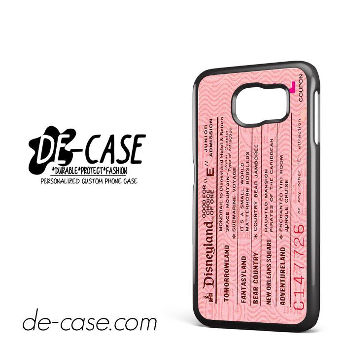 Pink Disneyland Ticket DEAL-8658 Samsung Phonecase Cover For Samsung Galaxy S6 / S6 Edge / S6 Edge Plus