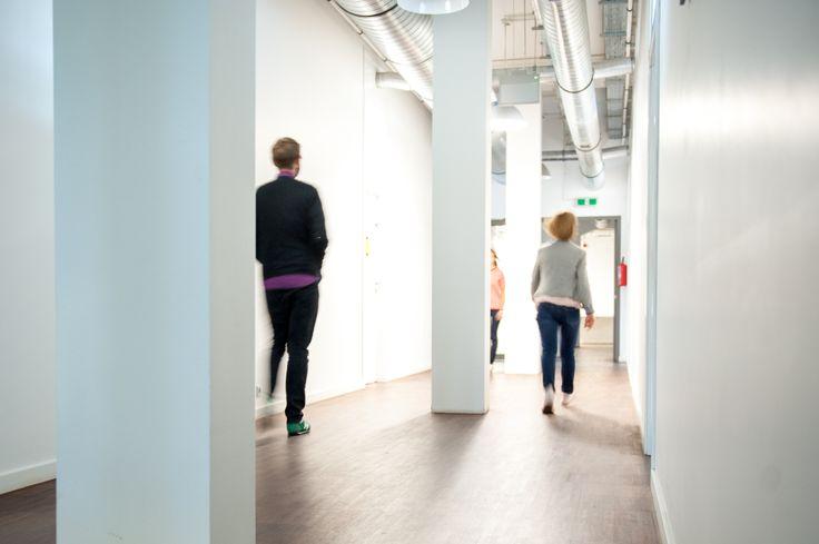 interior, corridor, post-industrial, modern, business, workshops, Poznań