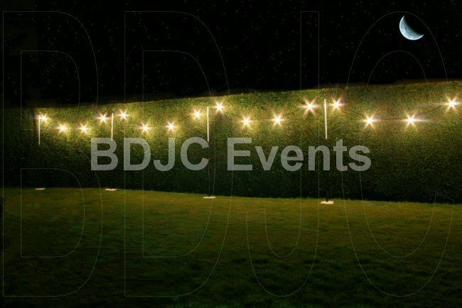 External Event and Wedding Lighting hire