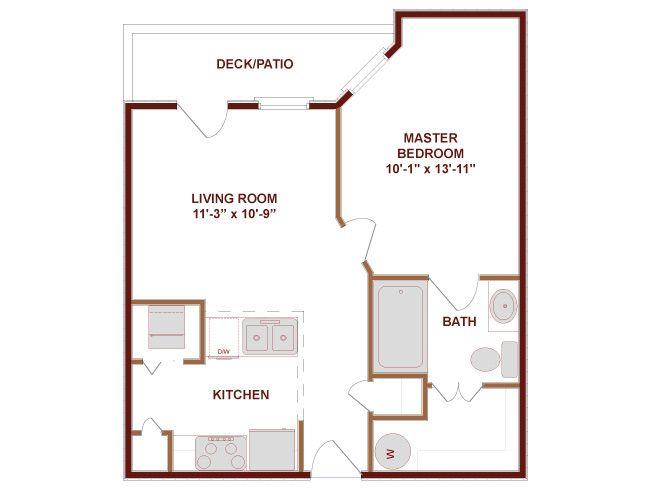 Floor Plan One Under 500 Sq Ft