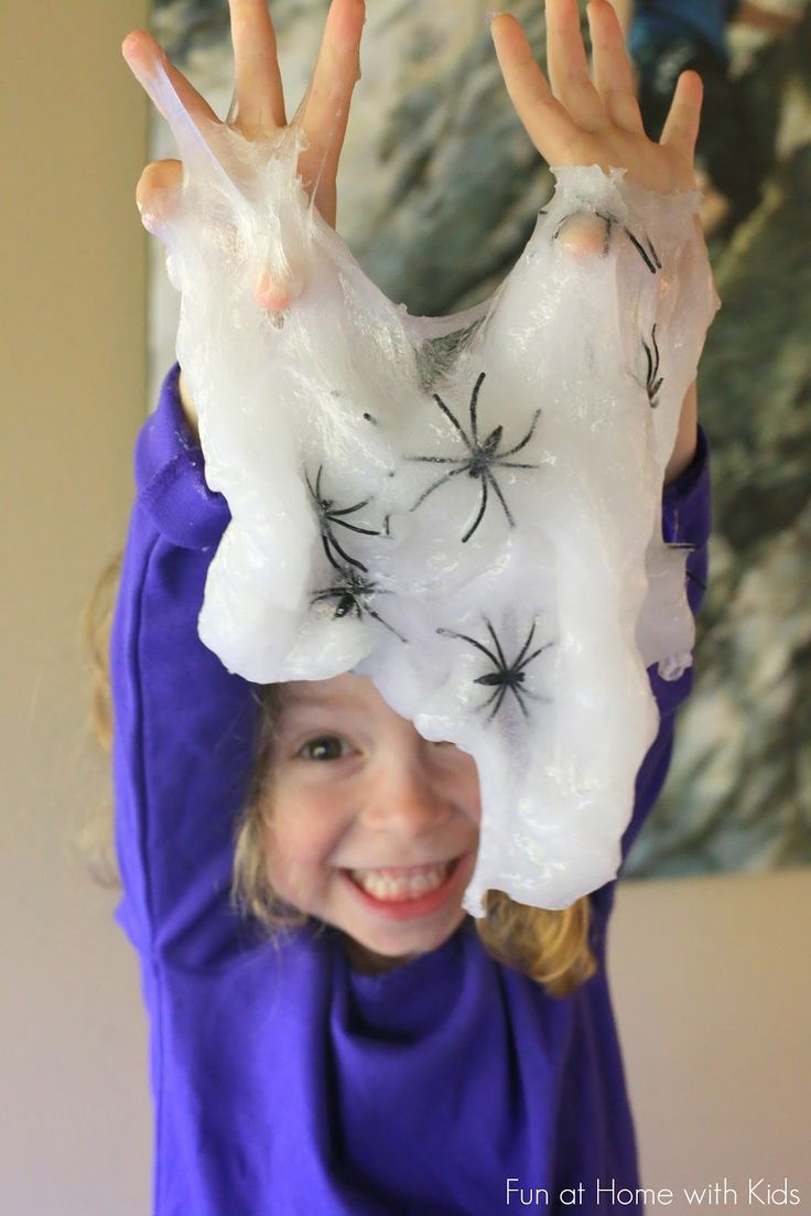Halloween Slime Recipe: Spider Slime from Fun at Home with Kids