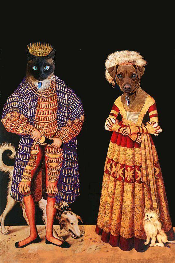 TWO Pet Portrait Duke and Dutchess ofSaxony Dog