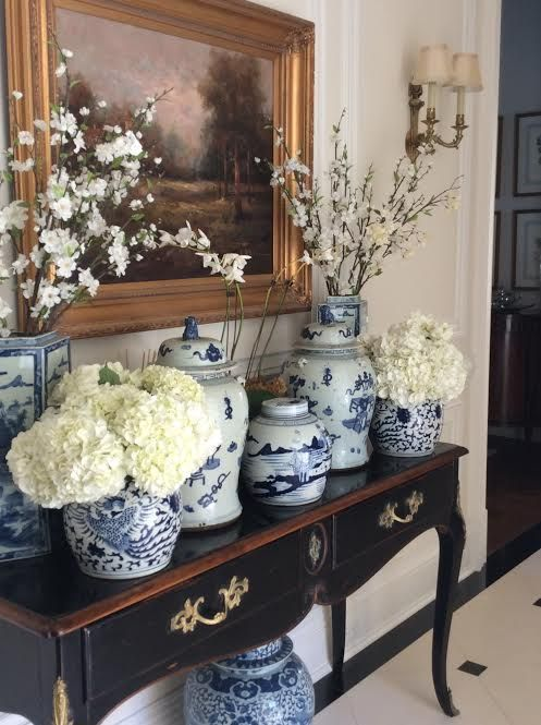 regularly change your vignettes -- Building a Blue & White Collection  - The Enchanted Home
