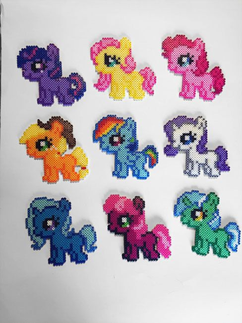 My Little Pony Silly Filly Perler Sprites by BelovedDollDesigns