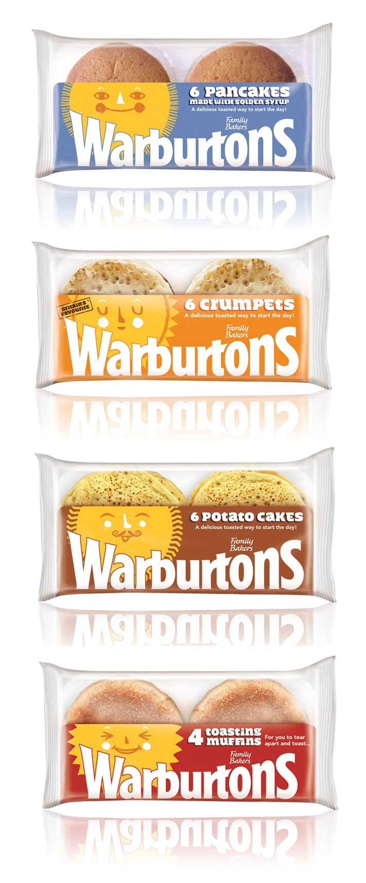 warburtons packaging by smith & milton illustrated by Ben Javen. Love these.