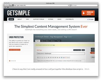 Super simple and lightweight content management system