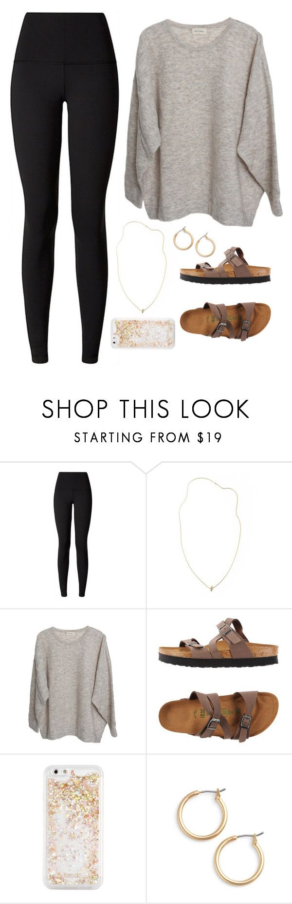 """Airport outfit"" by classygrace ❤ liked on Polyvore featuring lululemon, American Vintage, Birkenstock, ban.do and Nordstrom"