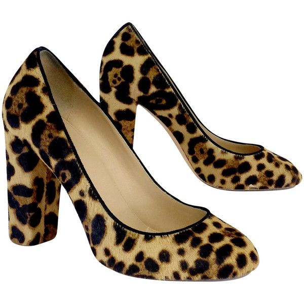 Pre-owned J. Crew Cheetah Print Pony Hair Pumps ($99) ❤ liked on Polyvore featuring shoes, pumps, high heeled footwear, cheetah print pumps, cheetah print shoes, cheetah pumps and calf hair shoes