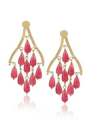 Rivka Friedman Teardrop Quartzite Chandelier Earrings