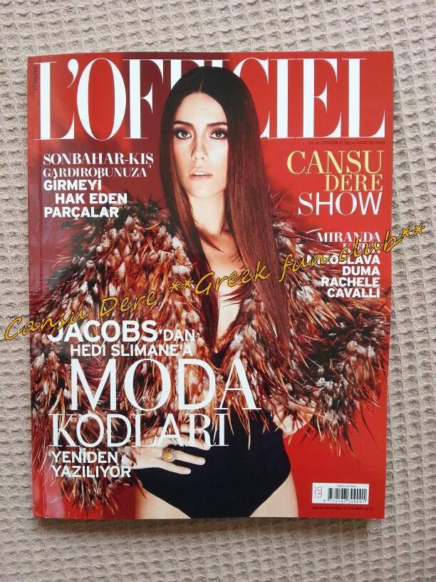 #LOfficielTurkey August 2013 #CansuDere