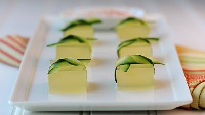 Cucumber Lime Margarita Jelly Shot